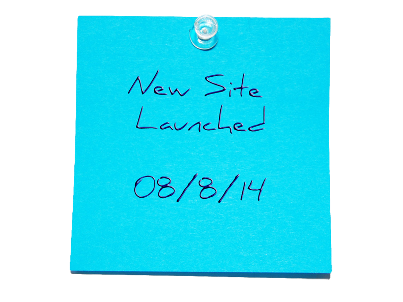 New Site Sticky Note